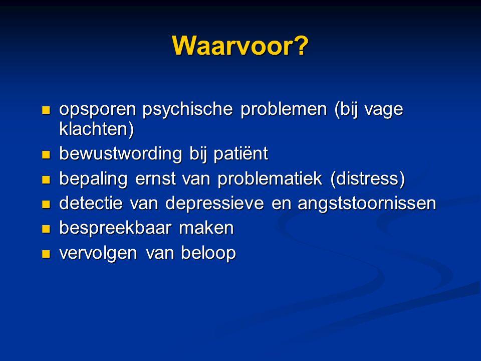 Waarvoor opsporen psychische problemen (bij vage klachten)