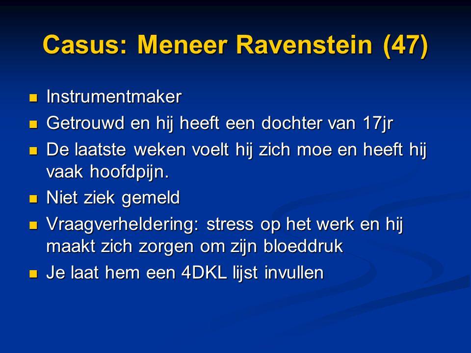 Casus: Meneer Ravenstein (47)