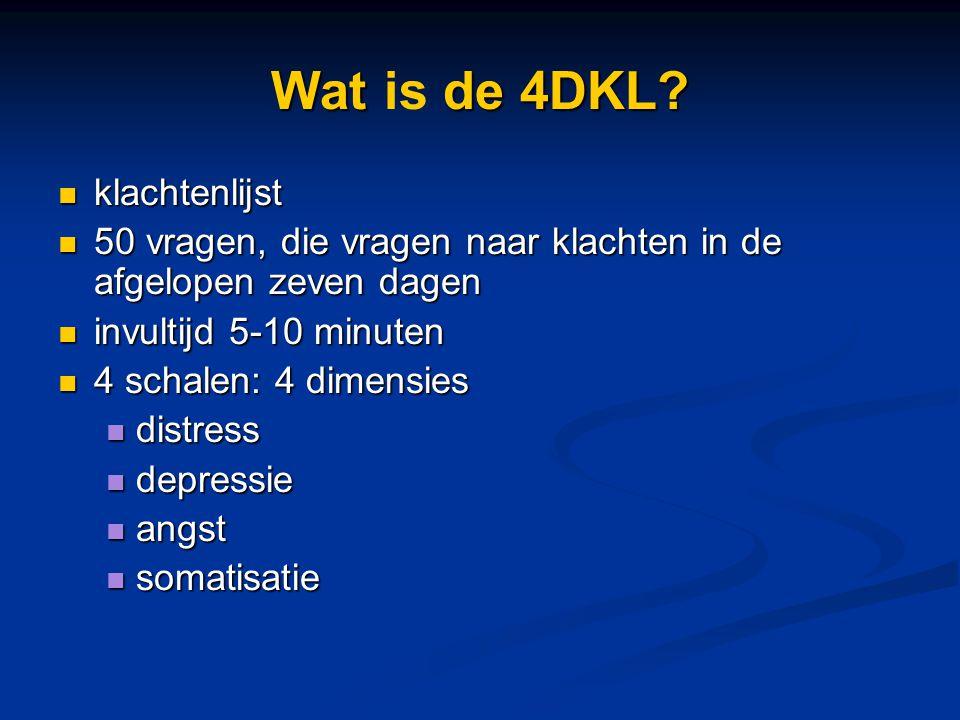 Wat is de 4DKL klachtenlijst