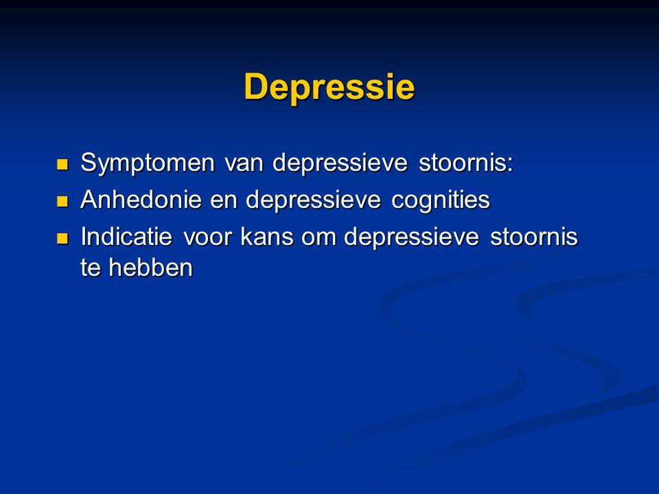 Depressie Symptomen van depressieve stoornis: