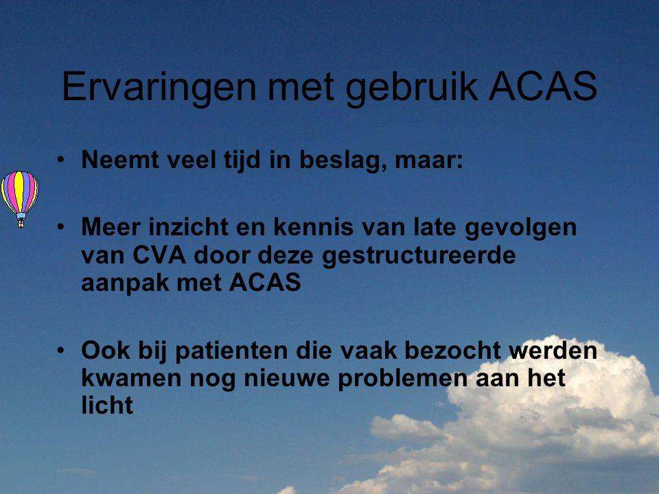 Ervaringen met gebruik ACAS