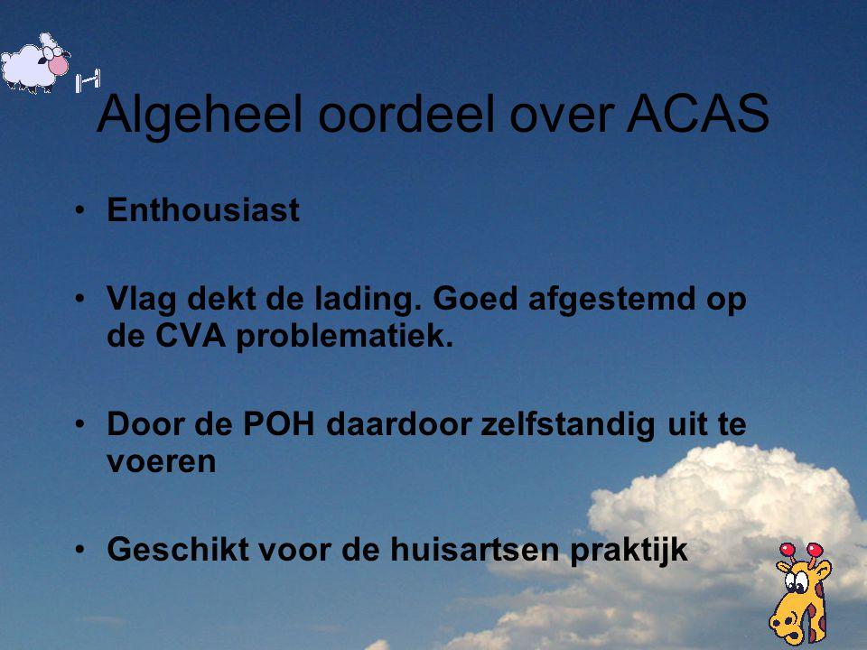 Algeheel oordeel over ACAS
