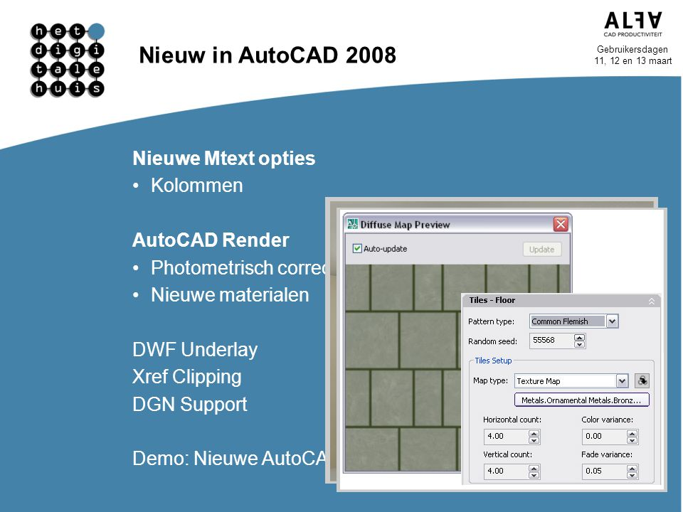 Nieuw in AutoCAD 2008 Nieuwe Mtext opties Kolommen AutoCAD Render