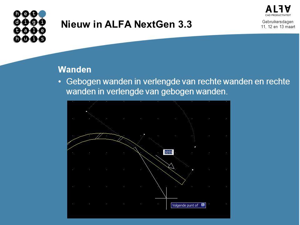 Nieuw in ALFA NextGen 3.3 Wanden