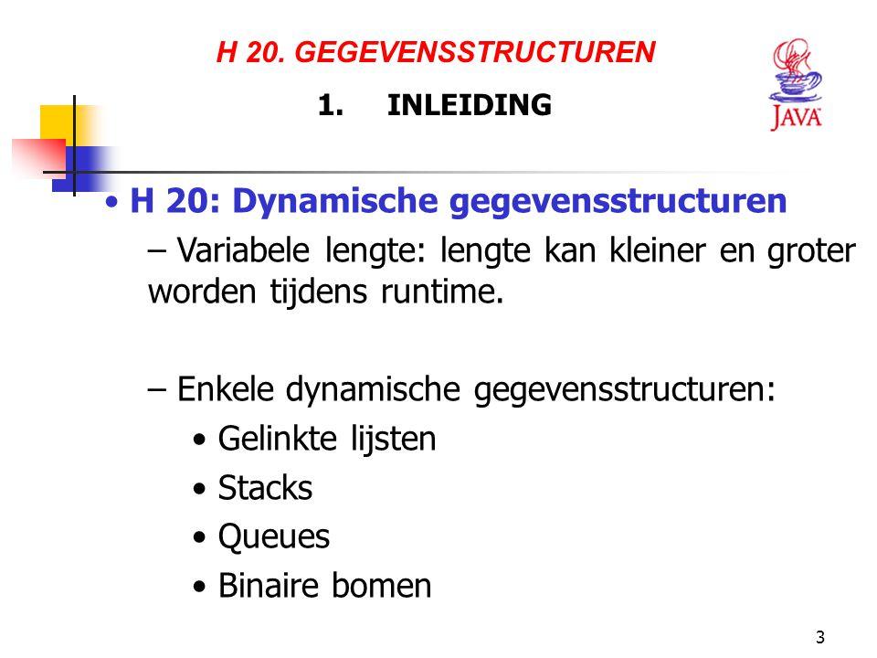 H 20: Dynamische gegevensstructuren