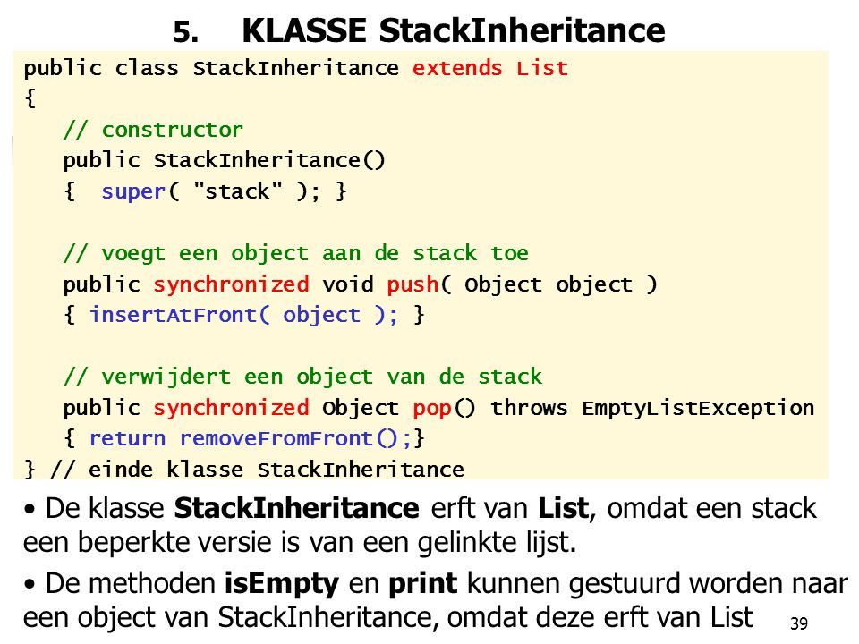 5. KLASSE StackInheritance