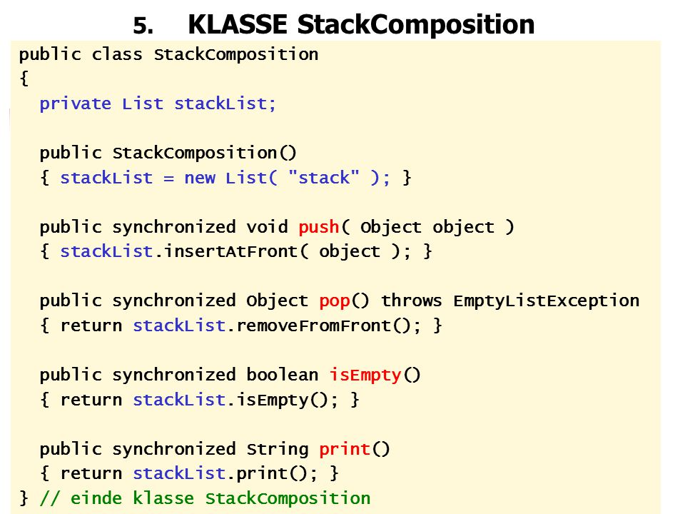 5. KLASSE StackComposition