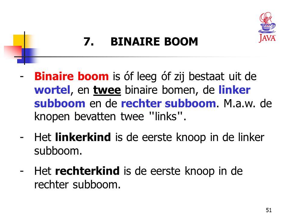 7. BINAIRE BOOM