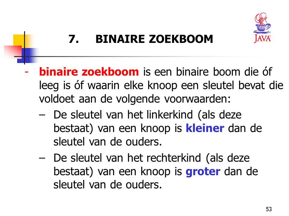 7. BINAIRE ZOEKBOOM