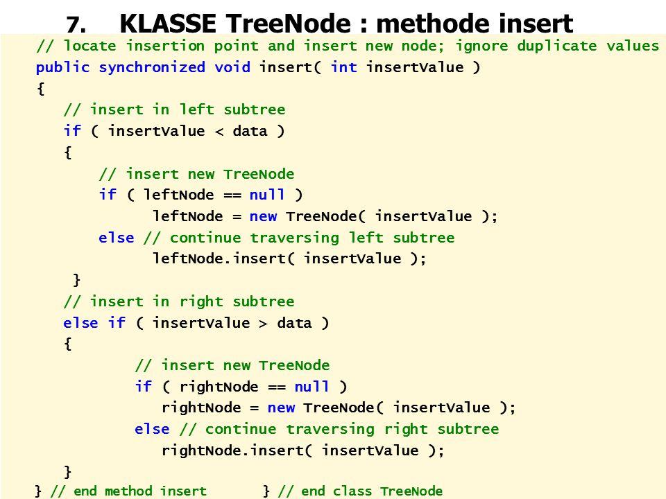 7. KLASSE TreeNode : methode insert