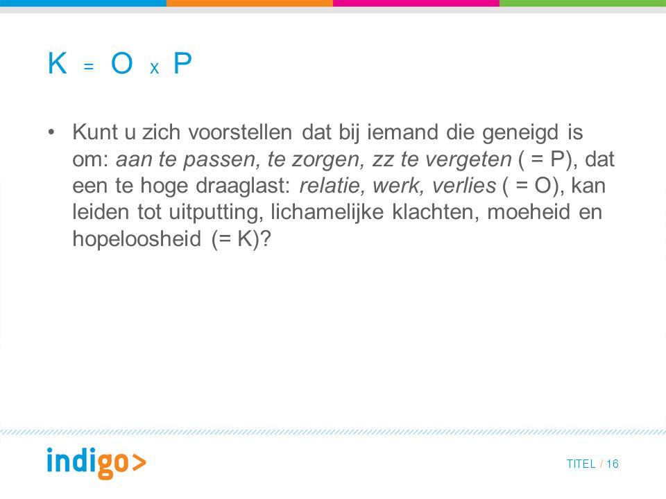 K = O x P