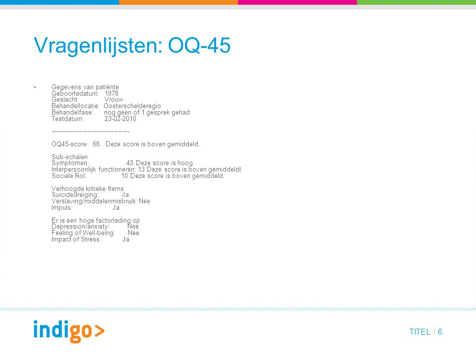 Vragenlijsten: OQ-45
