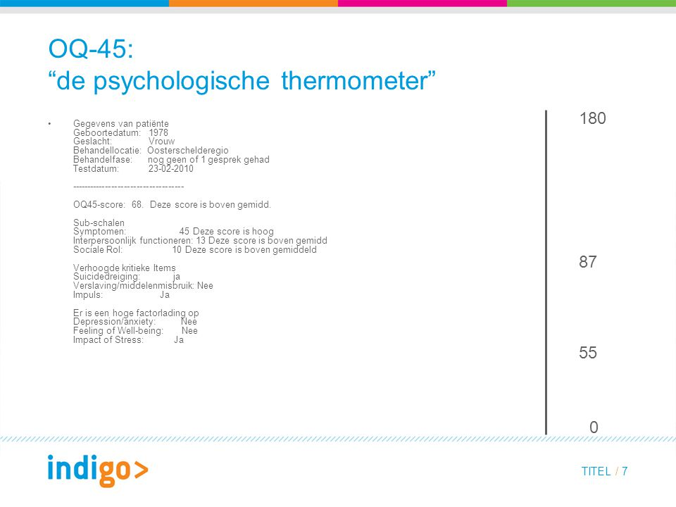OQ-45: de psychologische thermometer