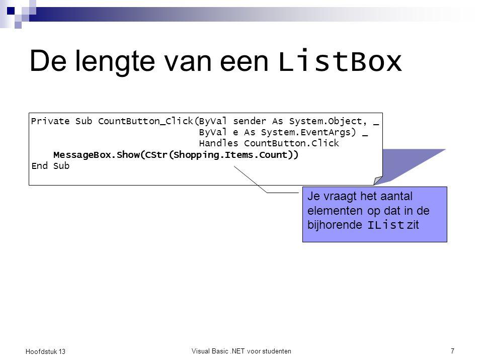 De lengte van een ListBox
