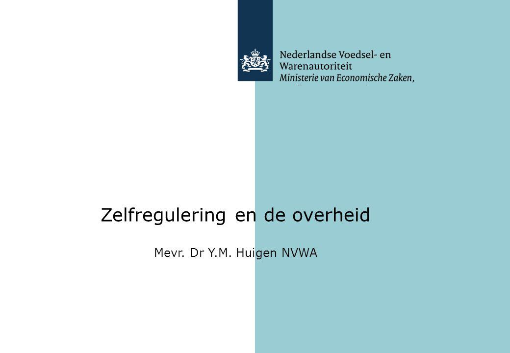 Zelfregulering en de overheid
