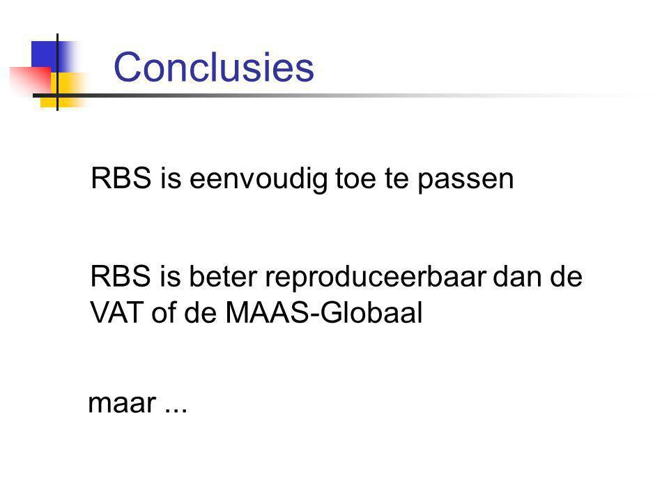 Conclusies RBS is eenvoudig toe te passen