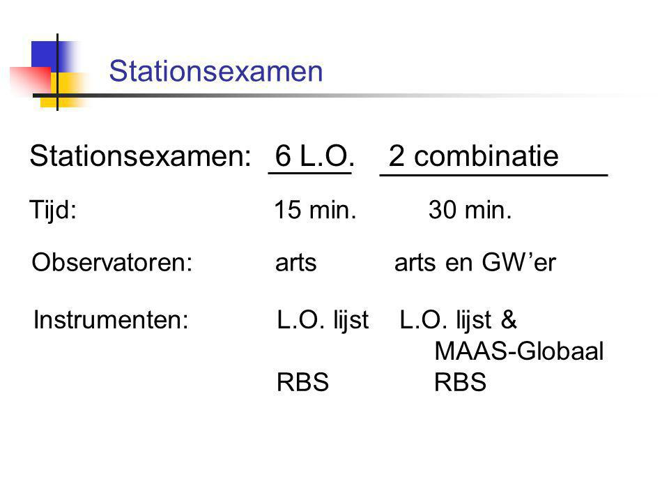 Stationsexamen: 6 L.O. 2 combinatie