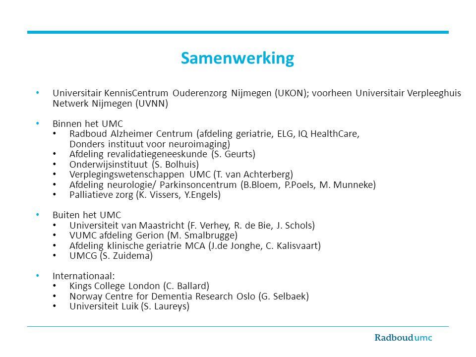 Samenwerking Universitair KennisCentrum Ouderenzorg Nijmegen (UKON); voorheen Universitair Verpleeghuis Netwerk Nijmegen (UVNN)