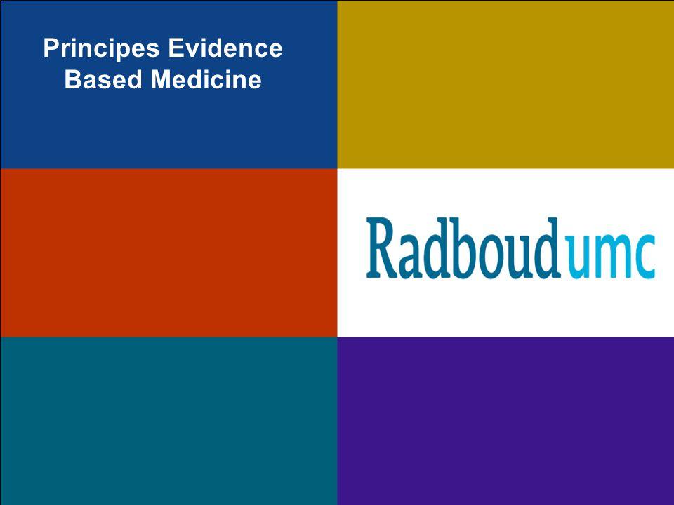 Principes Evidence Based Medicine