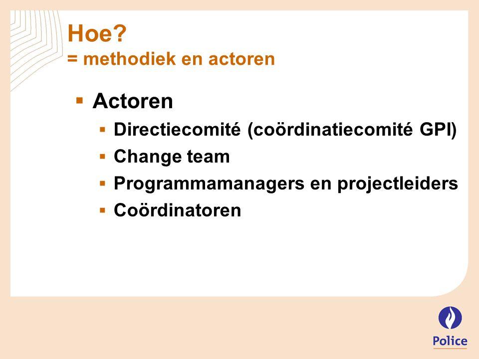 Hoe = methodiek en actoren
