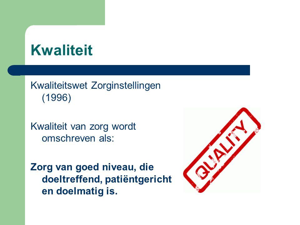 Kwaliteit Kwaliteitswet Zorginstellingen (1996)