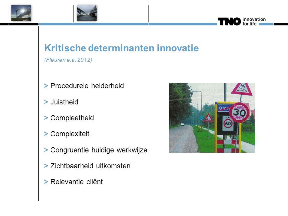 Kritische determinanten gebruiker (Fleuren e.a. 2012)