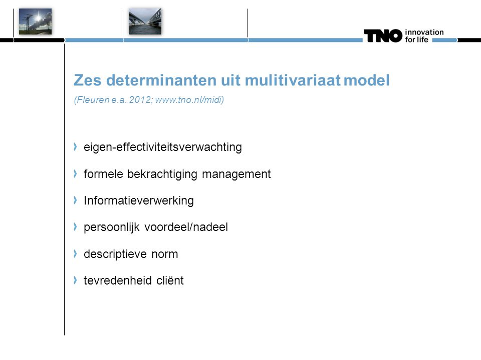 Conclusie / discussie www.tno.nl/midi