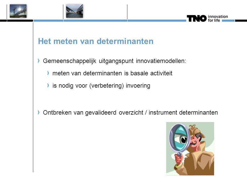 Determinanten onderzoekslijn TNO