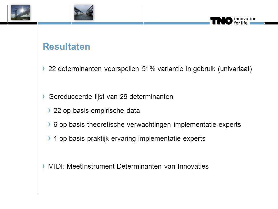 Kritische determinanten innovatie (Fleuren e.a. 2012)