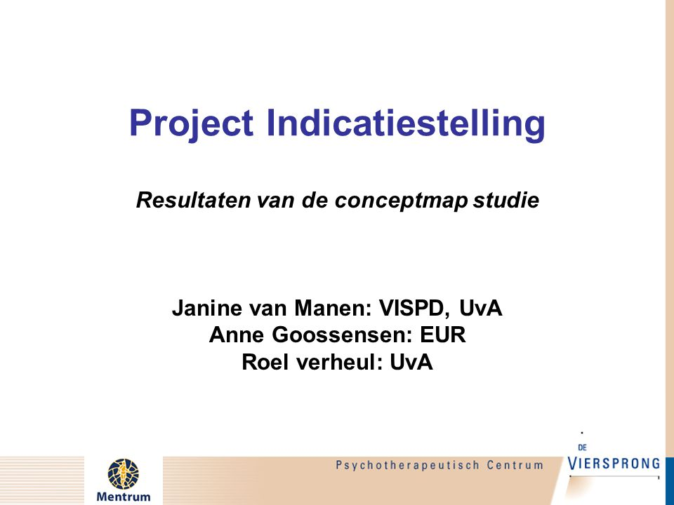 Project Indicatiestelling