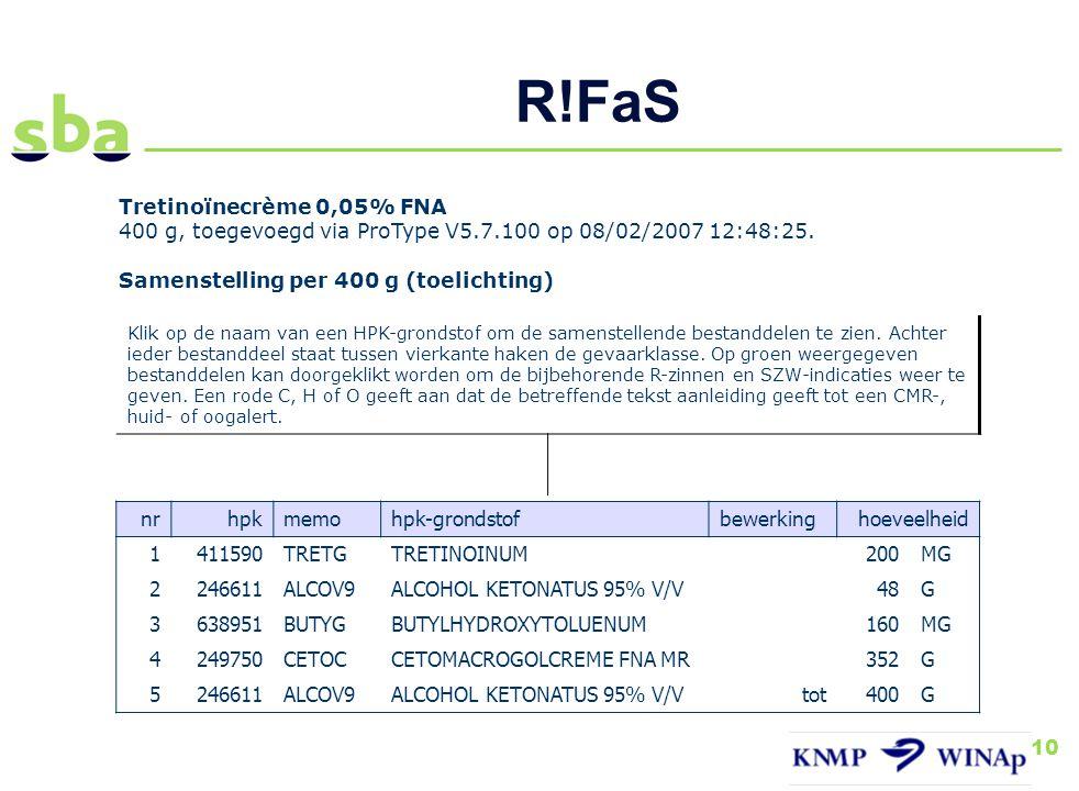 R!FaS Tretinoïnecrème 0,05% FNA
