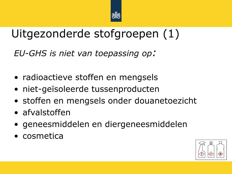 Uitgezonderde stofgroepen (1)