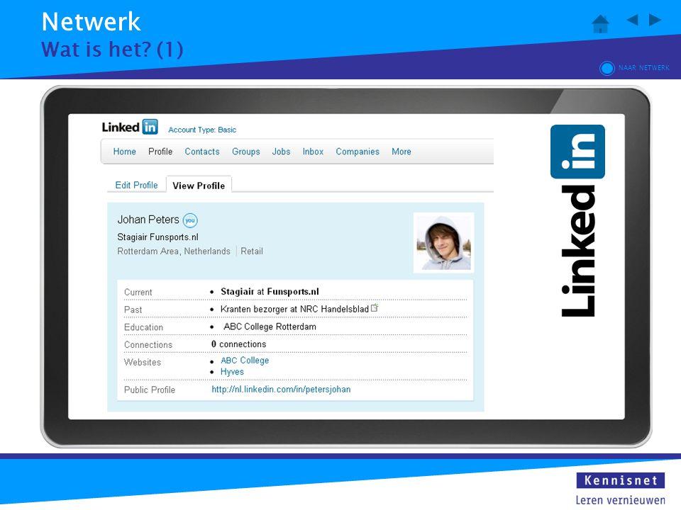 Netwerk Wat is het (1) NAAR NETWERK