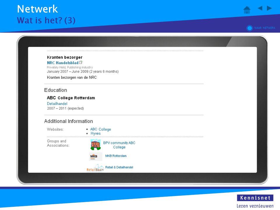 Netwerk Wat is het (3) NAAR NETWERK