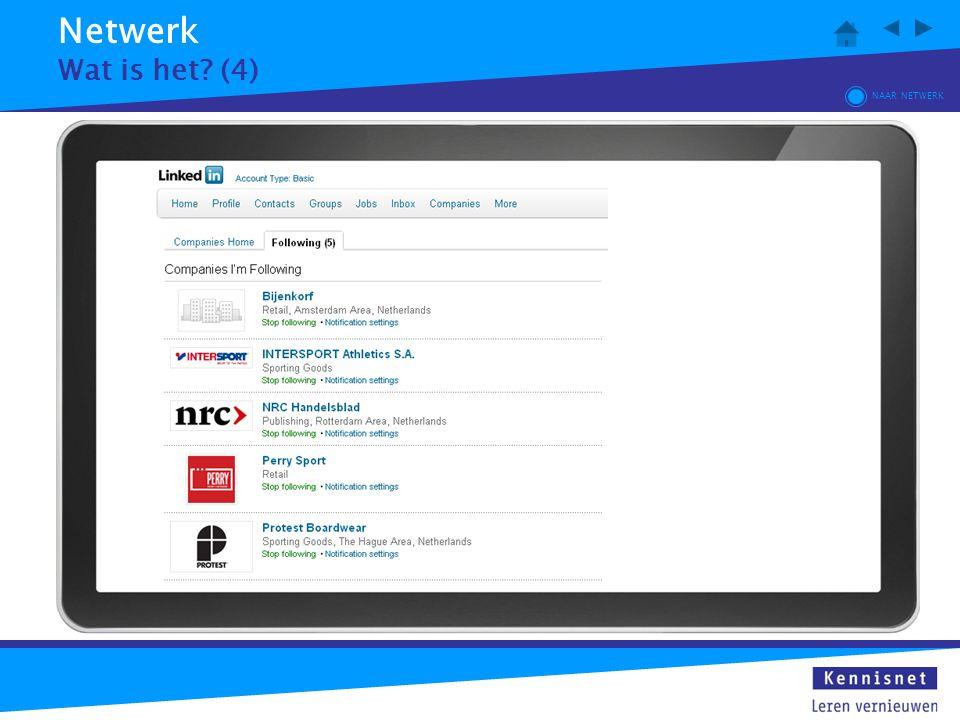 Netwerk Wat is het (4) NAAR NETWERK