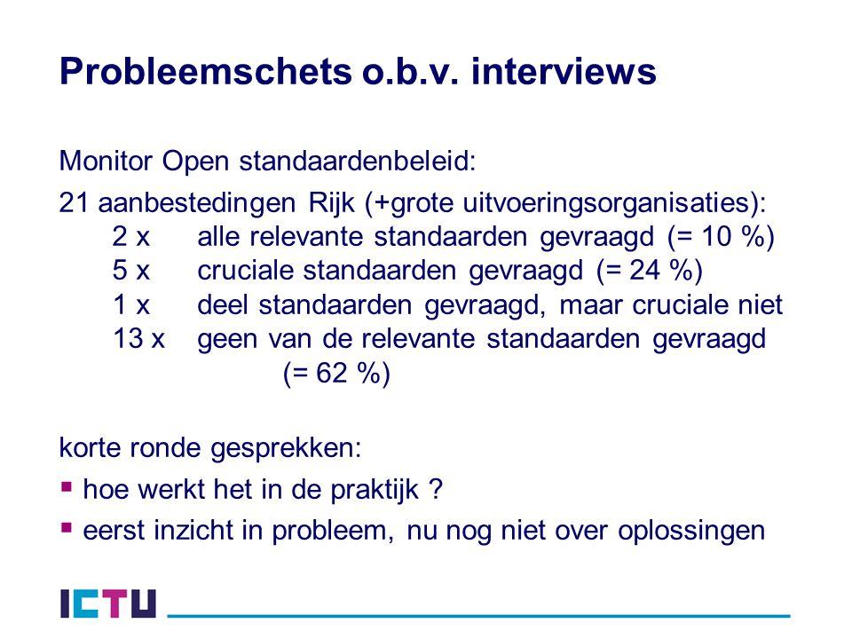 Probleemschets o.b.v. interviews