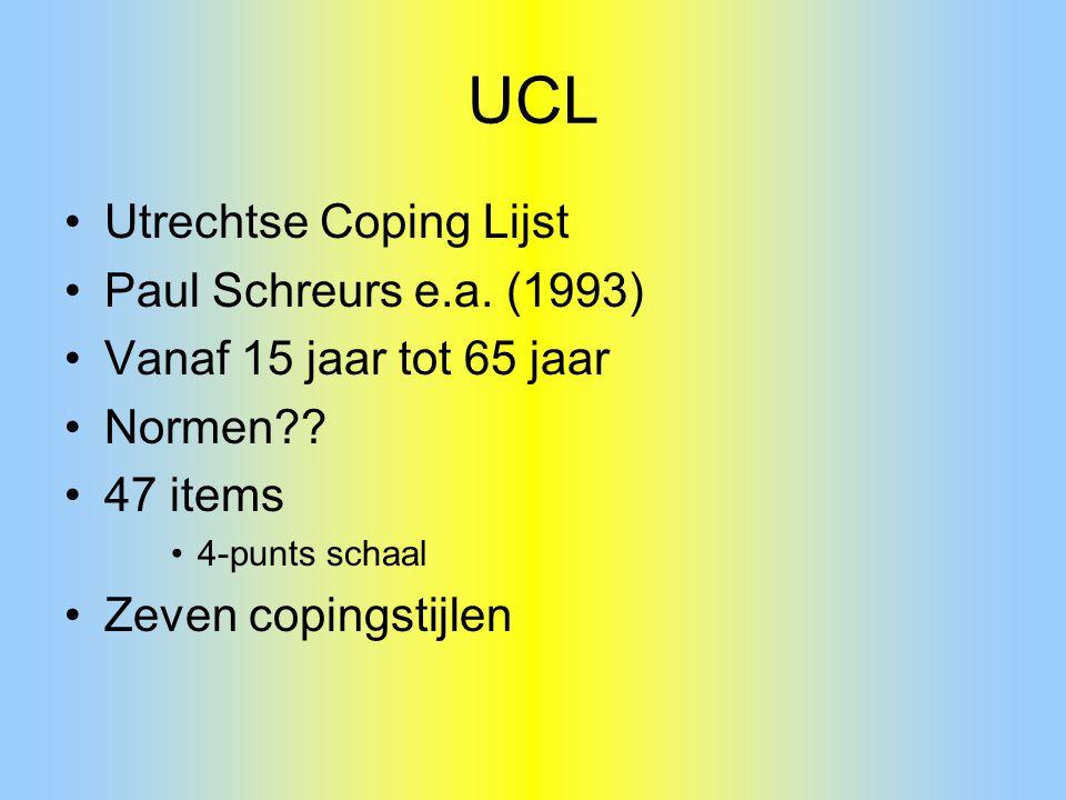 UCL Utrechtse Coping Lijst Paul Schreurs e.a. (1993)