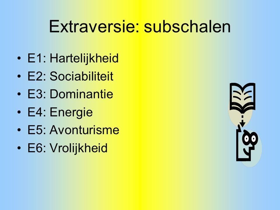 Extraversie: subschalen