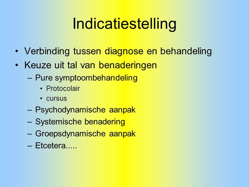 Indicatiestelling Verbinding tussen diagnose en behandeling