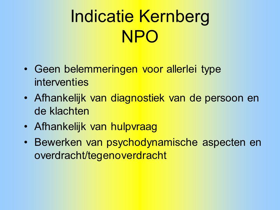 Indicatie Kernberg NPO