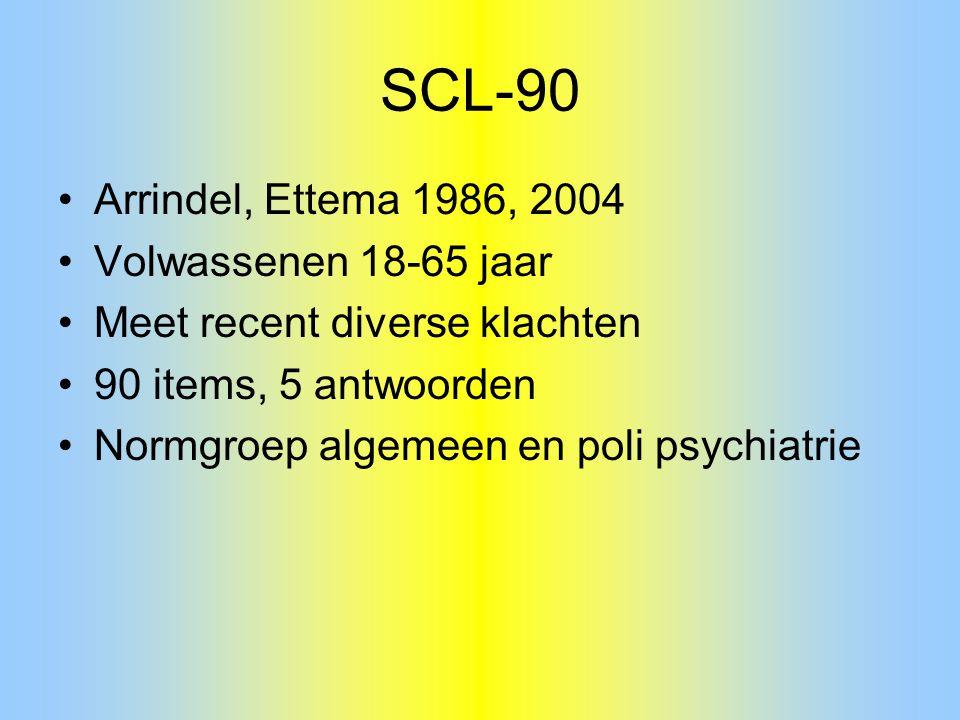 SCL-90 Arrindel, Ettema 1986, 2004 Volwassenen 18-65 jaar