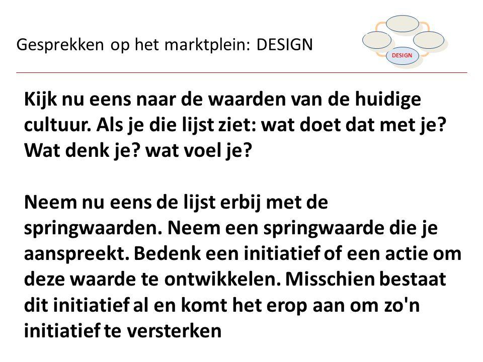 DISCOVER DREAM. DESIGN. DESTINY. Gesprekken op het marktplein: DESIGN.