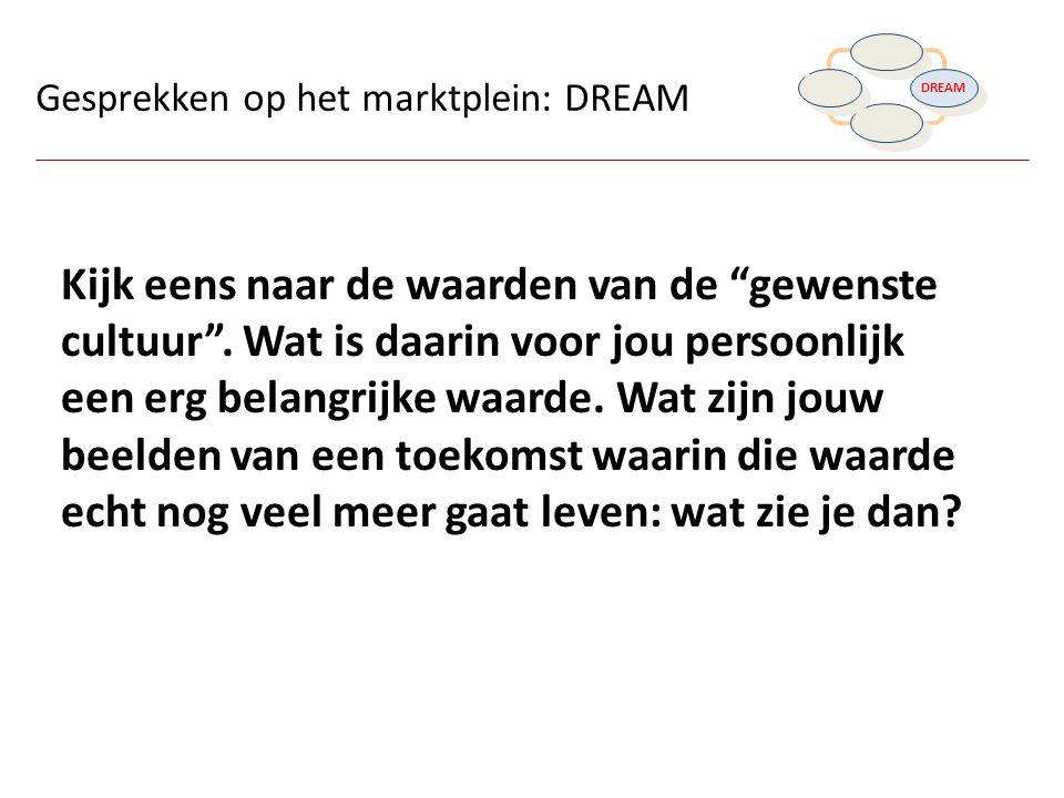DISCOVER DREAM. DESIGN. DESTINY. Gesprekken op het marktplein: DREAM.