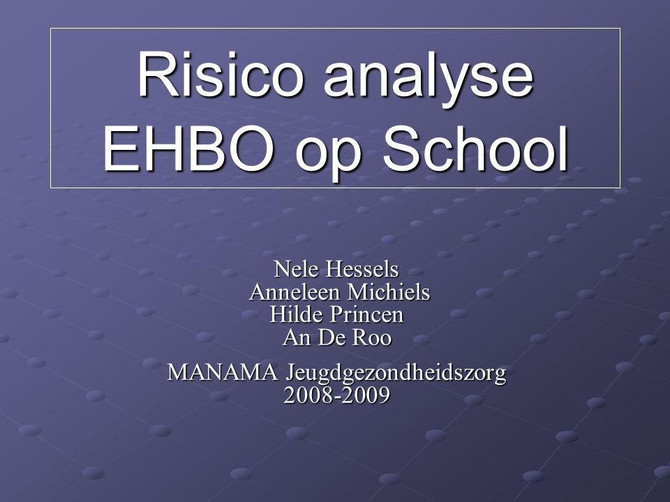 Risico analyse EHBO op School
