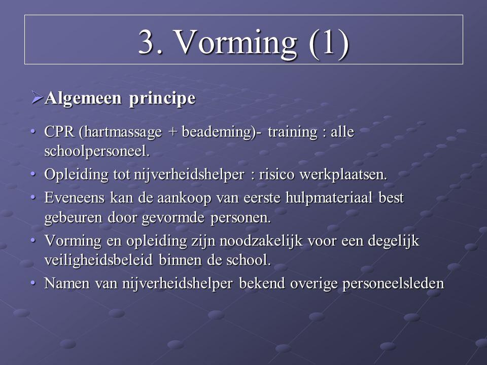 3. Vorming (1) Algemeen principe