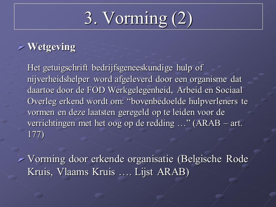 3. Vorming (2) Wetgeving.