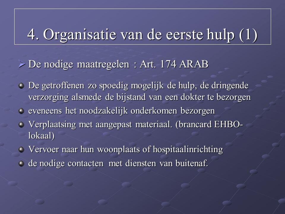 4. Organisatie van de eerste hulp (1)