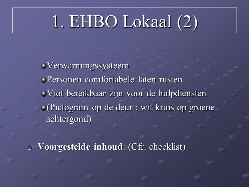 1. EHBO Lokaal (2) Verwarmingssysteem