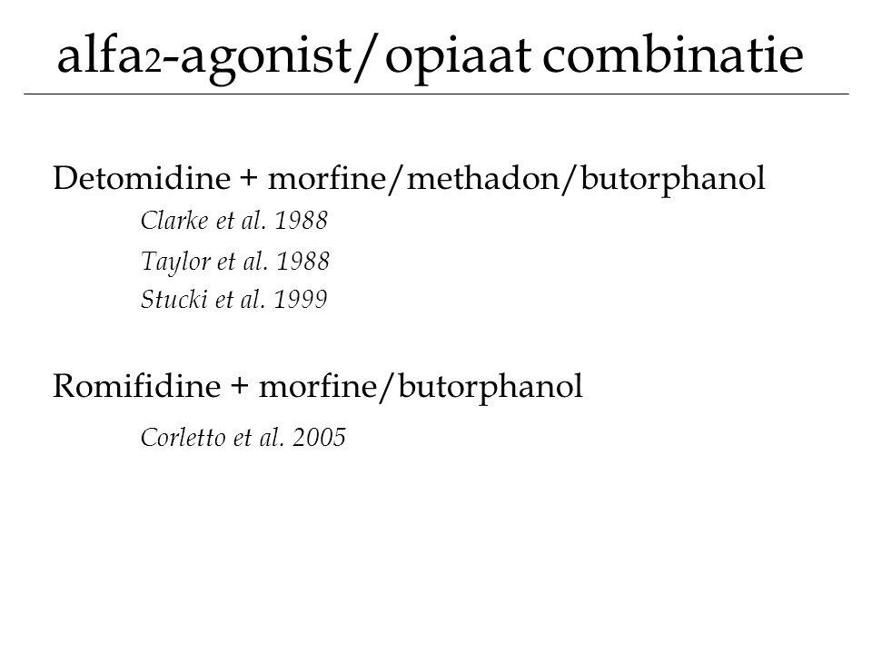 alfa2-agonist/opiaat combinatie