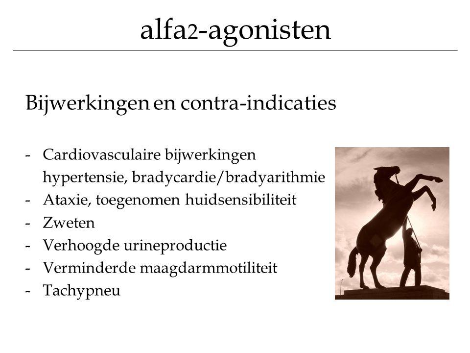 alfa2-agonisten Bijwerkingen en contra-indicaties